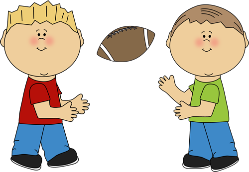 Boys Throwing A Football Clip Art Boys Throwing A Football Image
