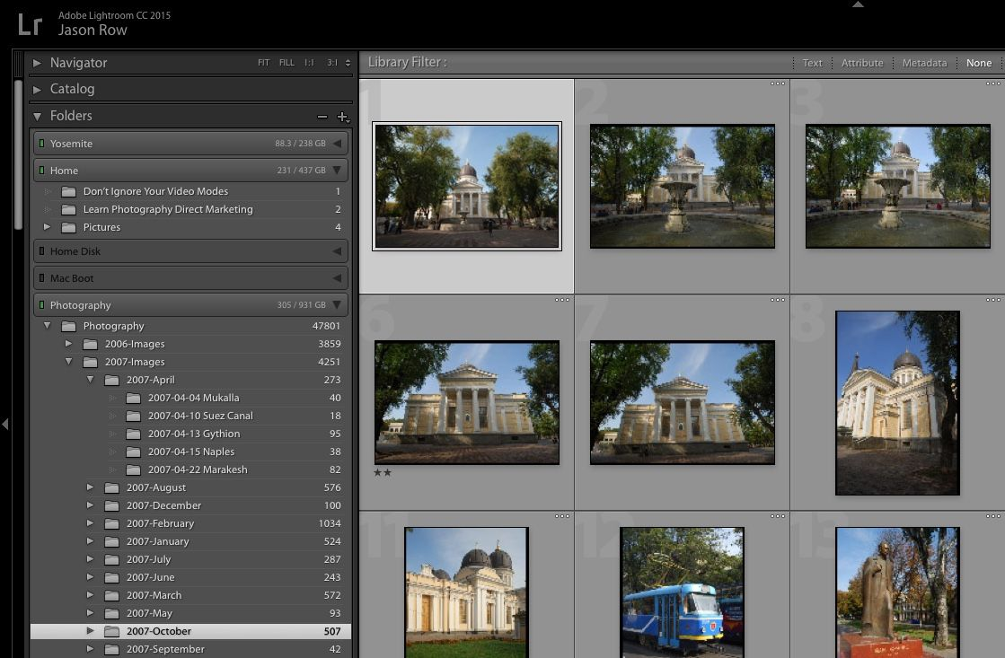 How to make a new catalog in lightroom