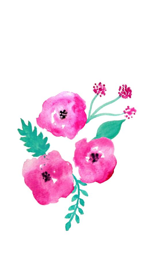 Free Screensaver Wallpapers Watercolour Flowers! Fondos