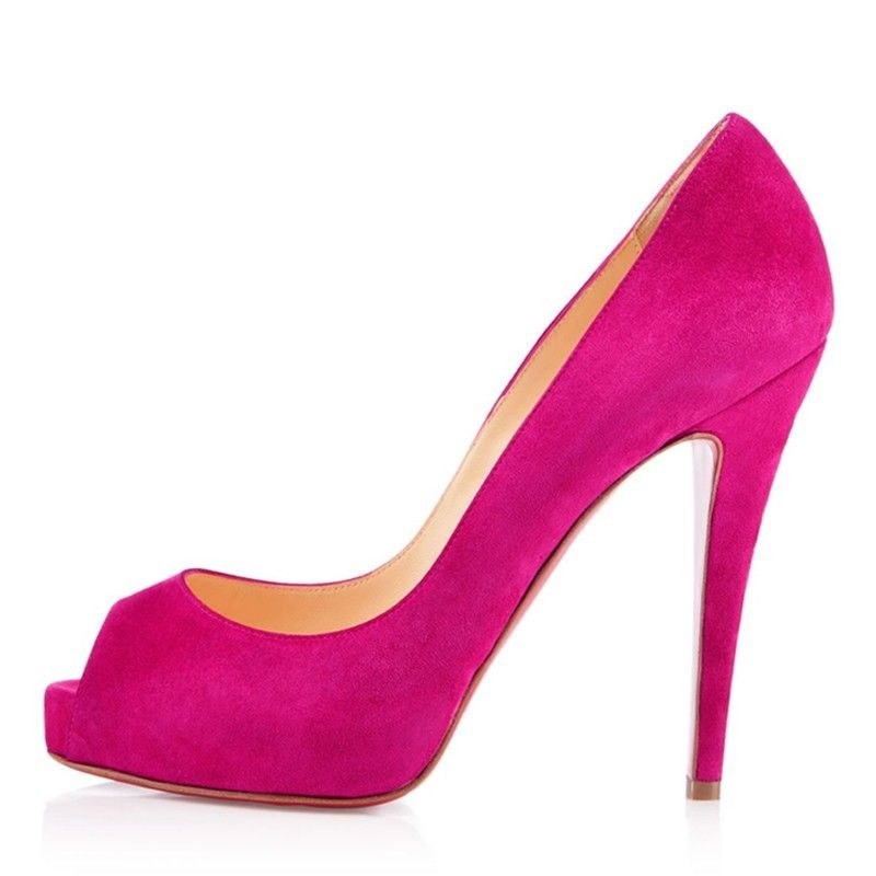 4cefb80471d Christian Louboutin Prive 120mm Peep Toe Heels in Hot Pink