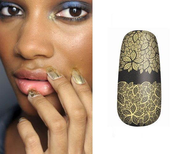 OPI Pure Lacquer Nail Apps in Gold Lace, $15, at salons.