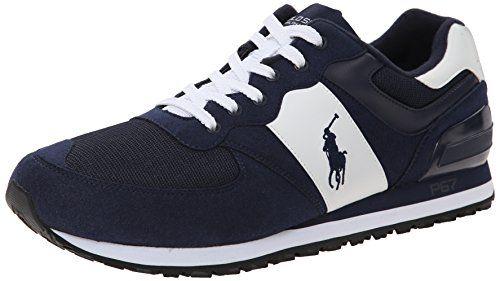 awesome Polo Ralph Lauren Men s Slaton Pony Fashion Sneaker   Small ... da86621b718