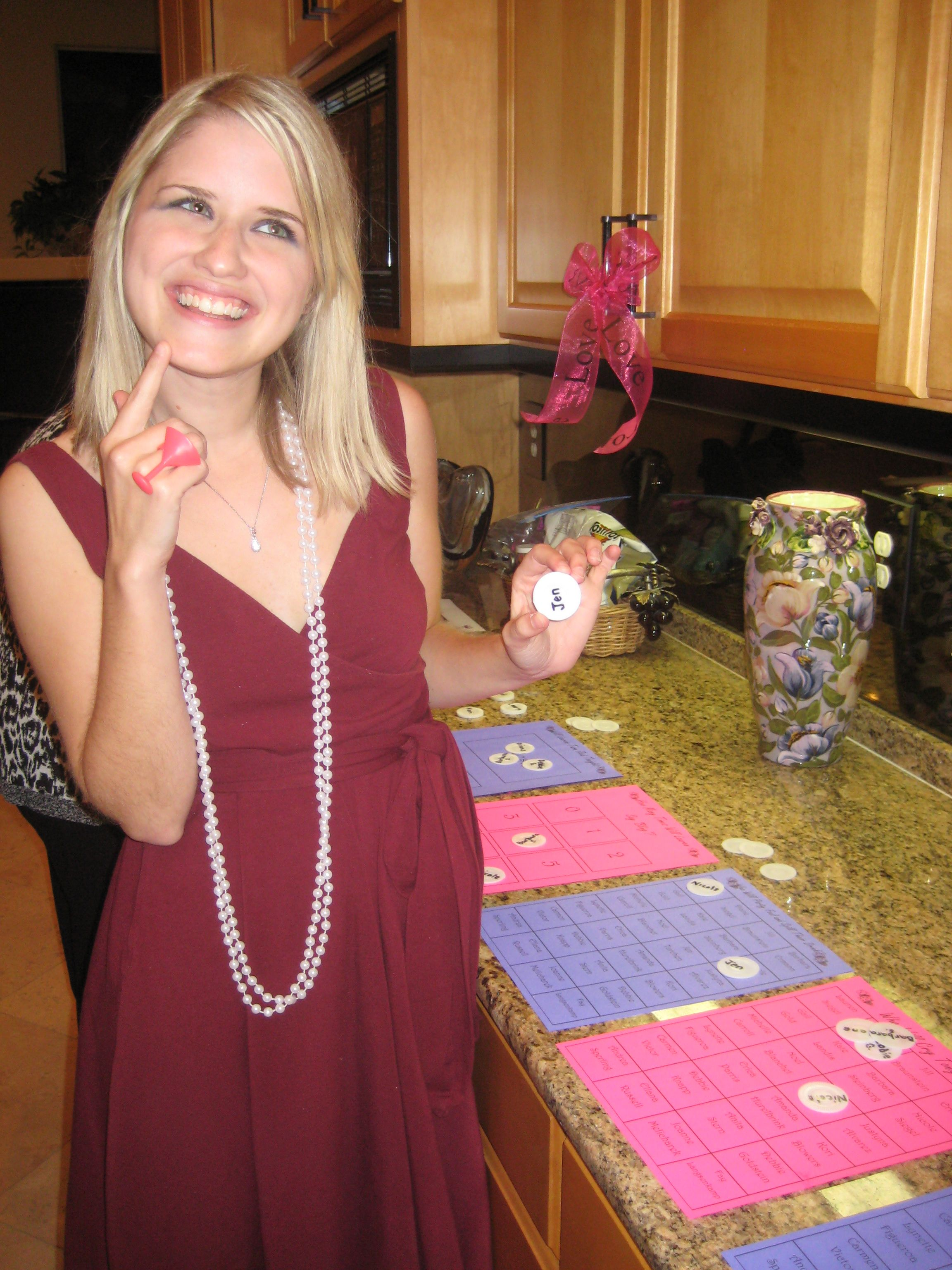 """We did a """"betting game"""" for my best friend s bridal shower Everyone"""