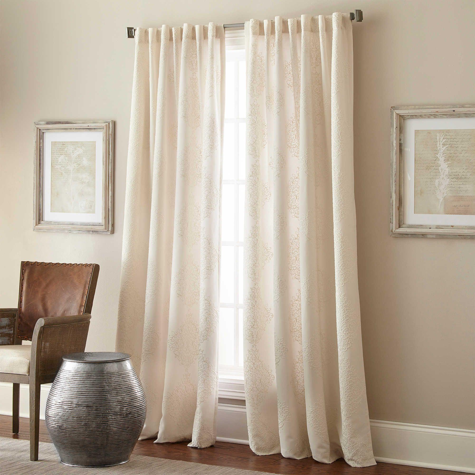 Talia Rod Pocket Back Tab Window Curtain Panel Panel Curtains