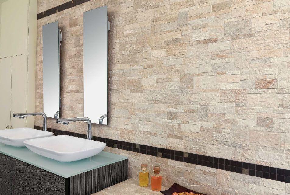Rivestimenti in pietra per interni stanza da bagno bagno
