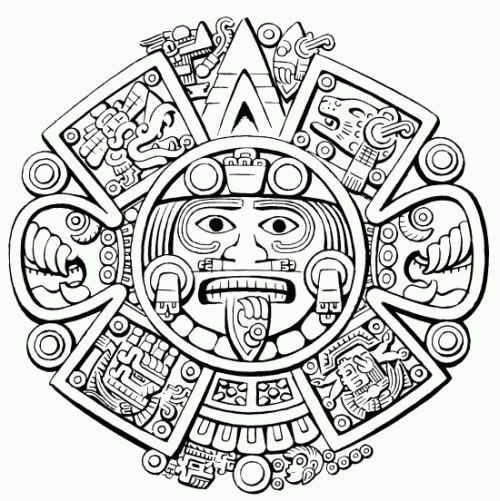 Resultado de imagen para dibujos aztecas para tatuajes   dibujos ...