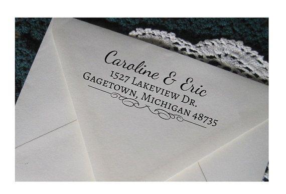 Personalized Return Address Stamp Custom Rubber Wedding Invitation Pre Inked Gagetown