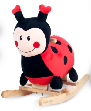 Rockin/' Rider Lala The Ladybug Baby Rocker Plush Ride-On Red