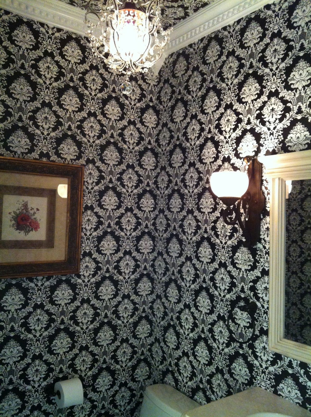 damask wallpaper ceiling Google Search in 2020