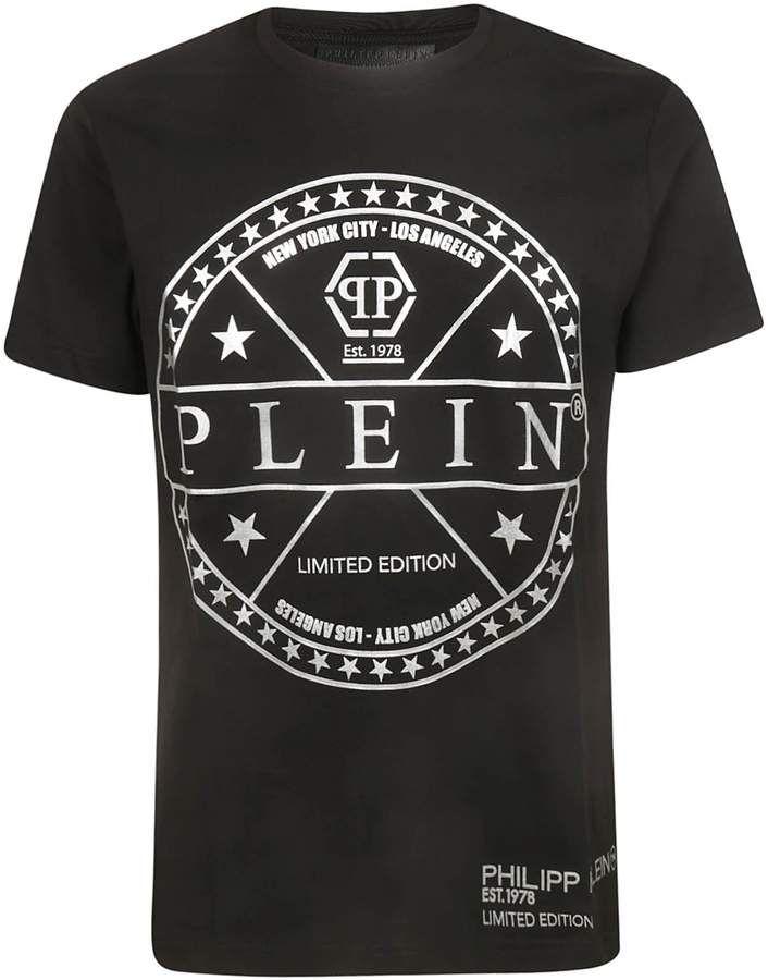 Philipp Plein Logo Print T shirt Chemises, T-shirt imprimé, T  Shirts, Print t shirt, T