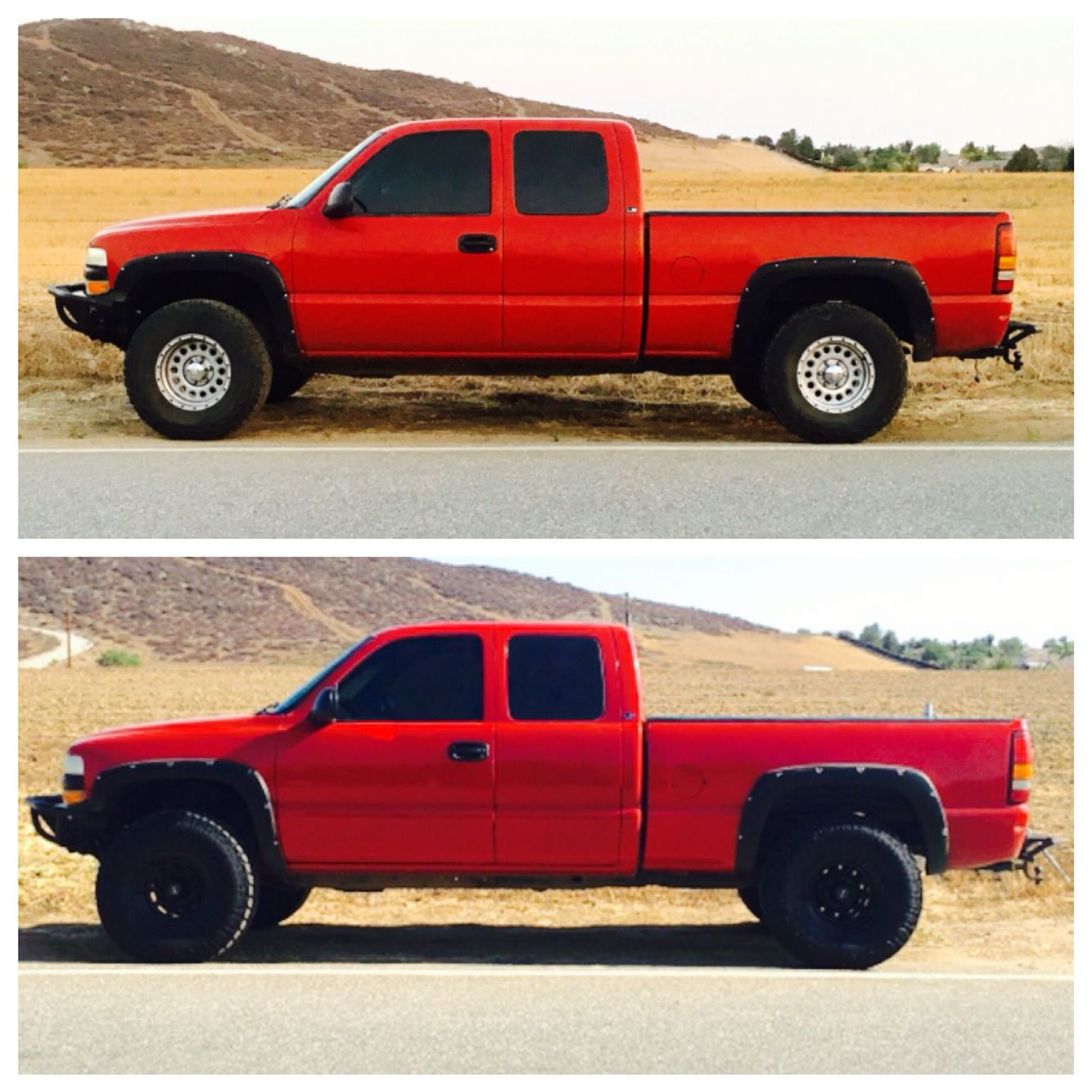 Top Is Bfg 33s On Eagle Alloys Bottom Is Open Country 35s