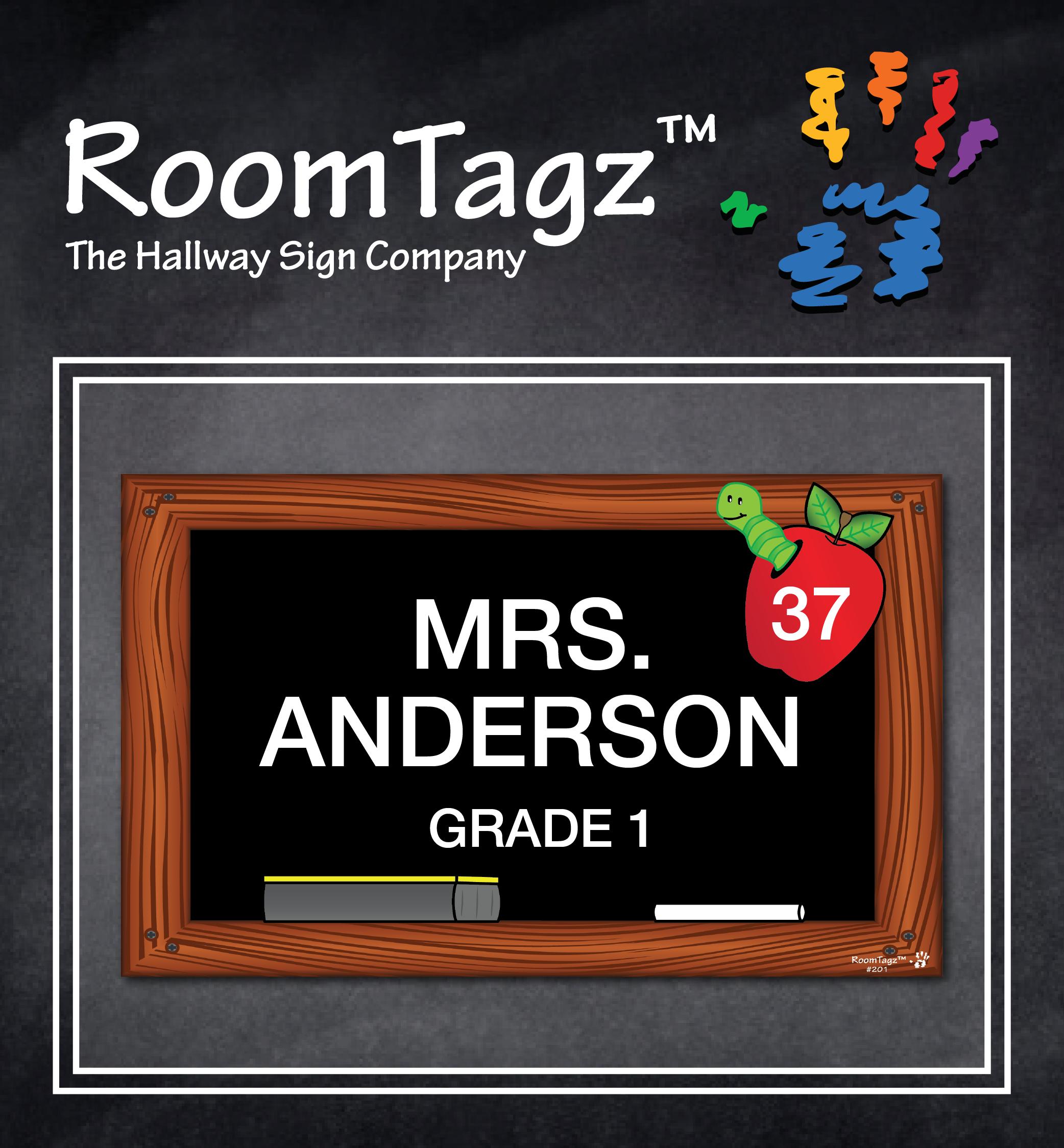 RoomTagz Custom Apple/Worm Hallway Sign. We Create Custom