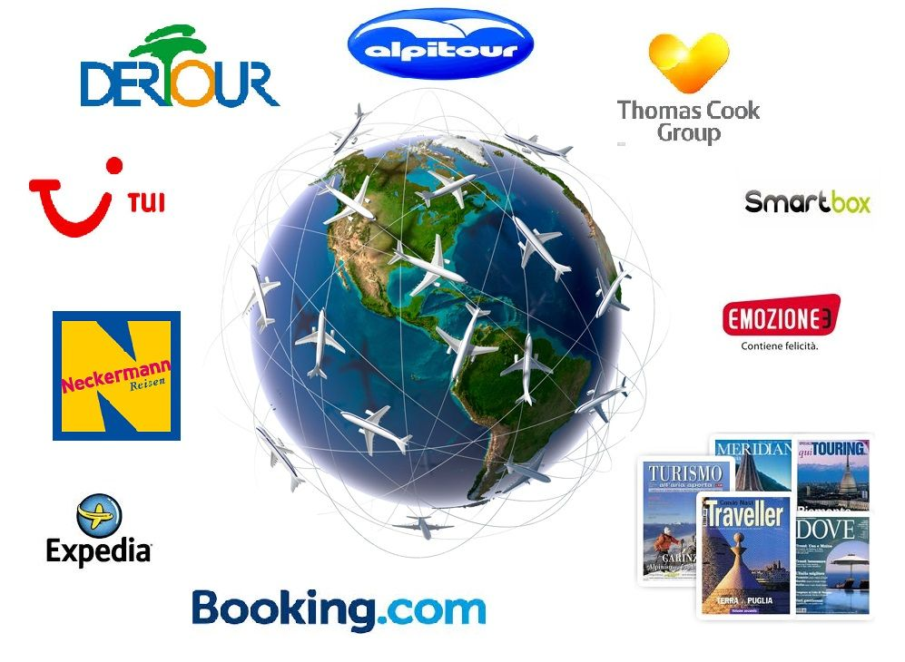 OTA (On Line Travel Agency) INTRODUCTION;  TOUR OPERATOR & TRAVEL AGENCY BROKERAGE;  GIFT BOXES;  PUBBLICATIONS;  ADVERTISING THROUGH COMPETITIONS;  INCENTIVE TRAVELS