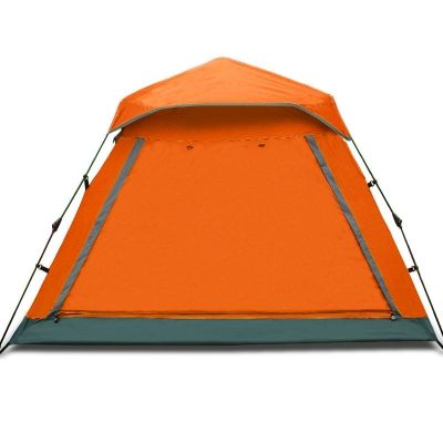 Easy up Lightweight 4-Person Family 3-Season Water Resistant C&ing Cabin Dome Tent  sc 1 st  Pinterest & Easy up Lightweight 4-Person Family 3-Season Water Resistant ...