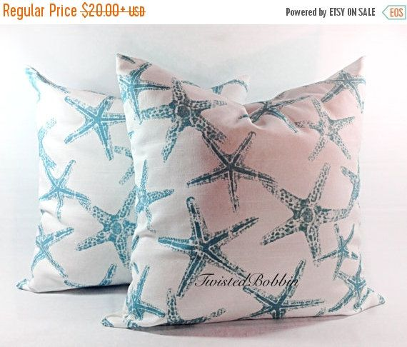 PILLOW SALE Star fish Pillow cover Sea by TwistedBobbinDesigns