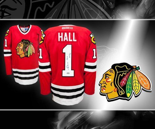 This is an official licensed Glenn Hall Chicago Blackhawks Autographed  Jersey. The jersey is brand new from CCM with all of the lettering ... b756b659b