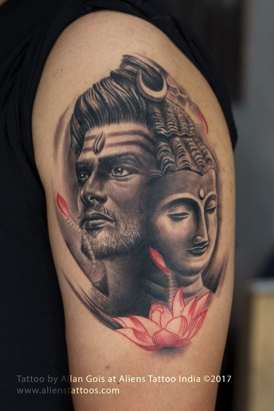 lord shiva buddha tattoo lord shiva tattoo collection by aliens tattoo pinterest shiva. Black Bedroom Furniture Sets. Home Design Ideas