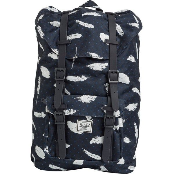 Herschel Little America Mid Volume Backpack ( 100) ❤ liked on Polyvore  featuring bags, backpacks, blue, blue backpack, herschel supply co backpack,  ... 48826efacb