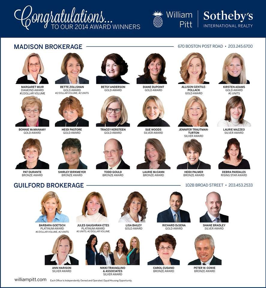 What a great group of people to be included in! #williampittsothebys #madisonct #traceysellscthomes