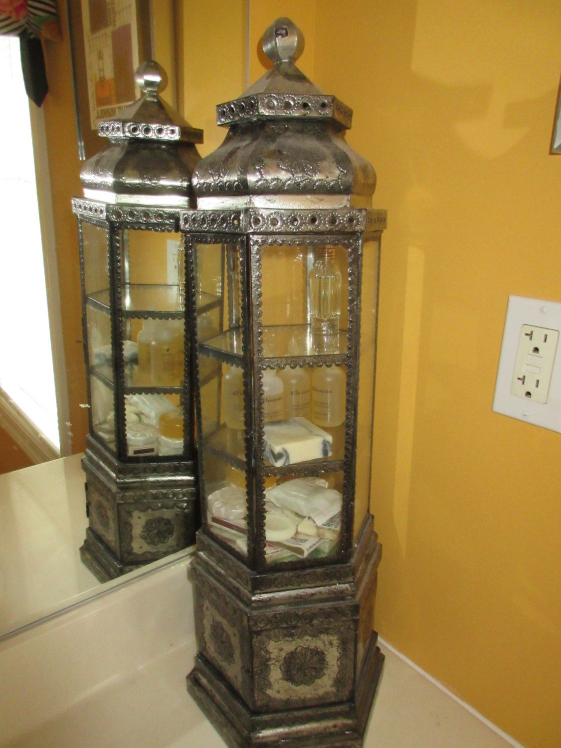 Mexican Tin Display Cabinet By Zookscollections On Etsy Https Www