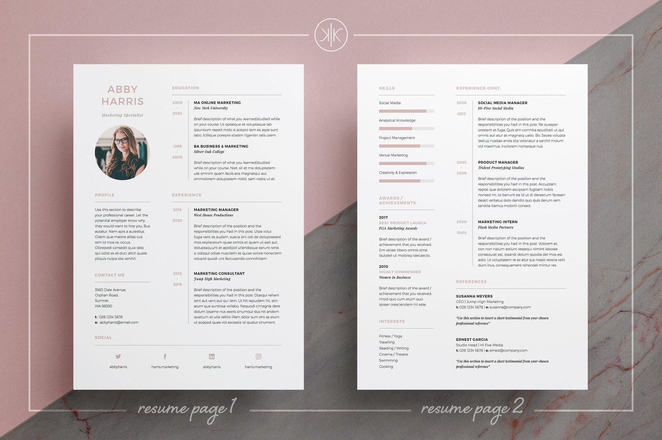 Resume/CV | Abby | Pinterest | Bewerbung