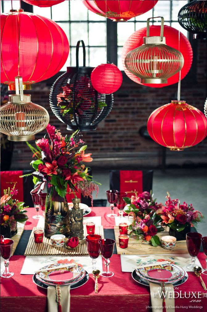 Bohemian Decadence Chinese wedding decor, Chinese new