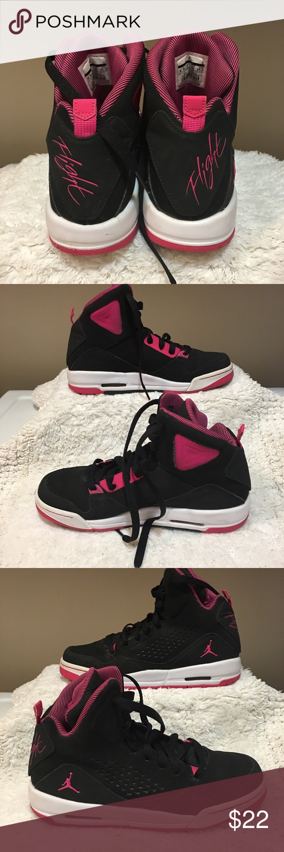 Black High Top Kids Shoes Size 2 Used Condition Kids' Clothing, Shoes & Accs Boys' Shoes