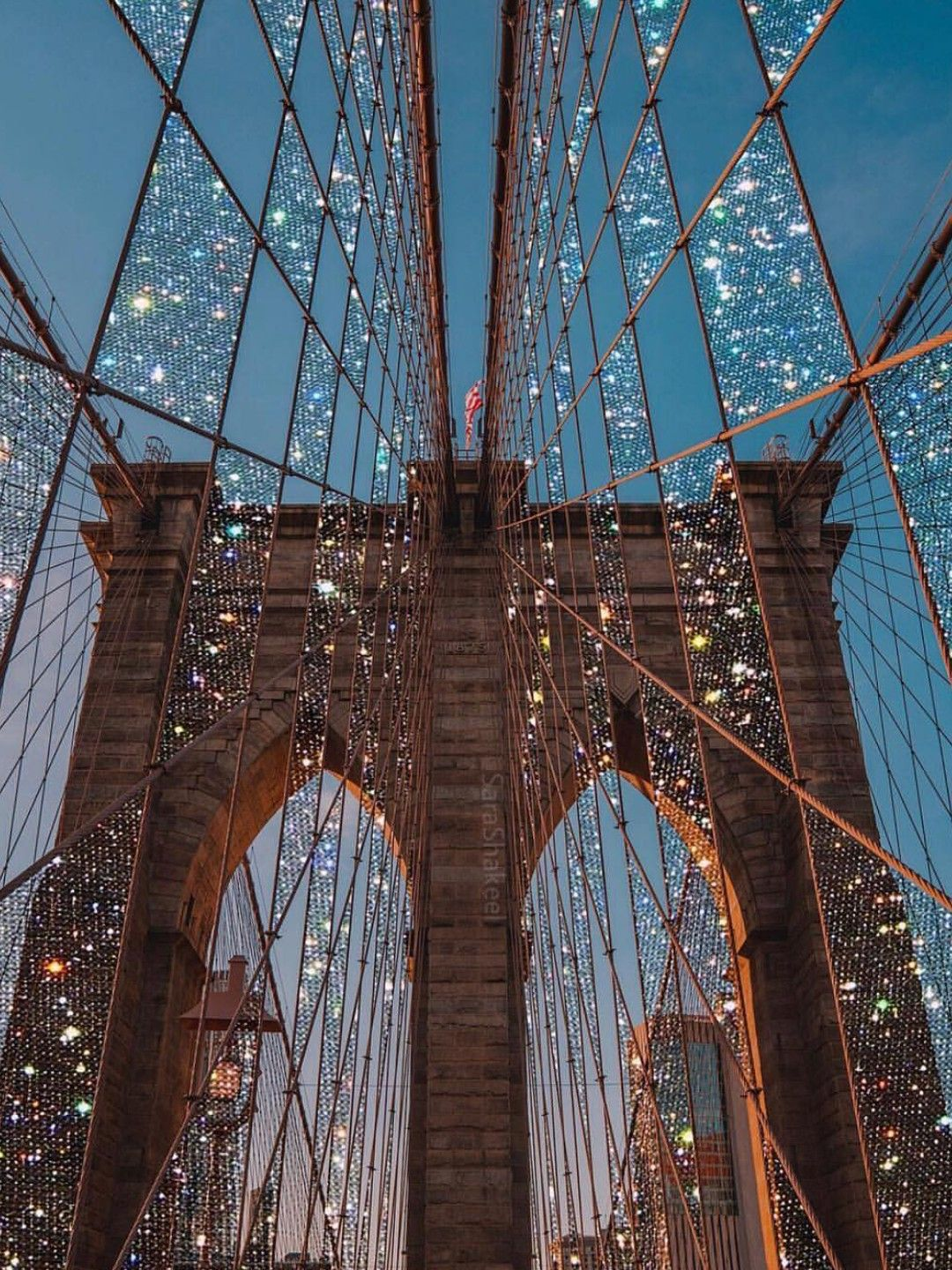 Brooklyn Bridge Nyc Glitter Photography Aesthetic Wallpapers Photo Wall Collage