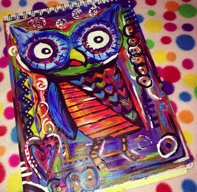 Owl painting ( 14.1.15 )