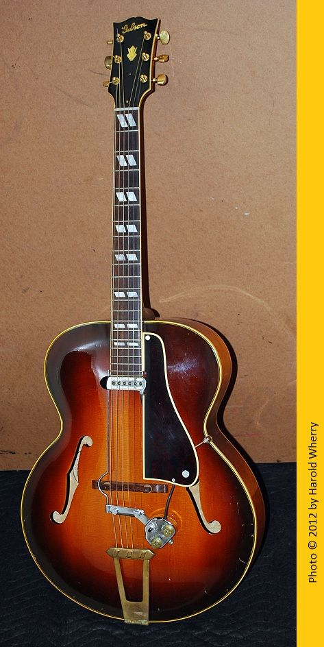 1948 Gibson L12 Acoustic Archtop Guitar Fitted With A Dearmond Model 1100 Super Chief Pickup This Guitar Has Guitar Archtop Guitar Custom Acoustic Guitars