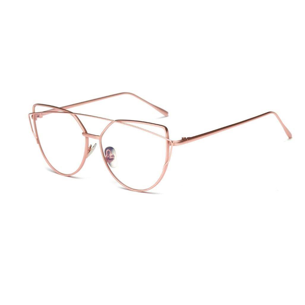 8920a1eeee Unisex Ultralight Radiation Protection Eyeglasseess Round Oval Metal Rim  Vintage Lens Glasses