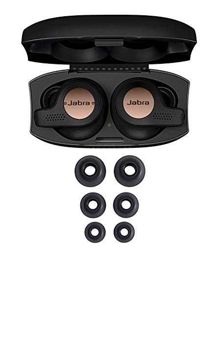 Amazon Com Jabra Elite Active 65t Earbuds True Wireless Earbuds With Charging Case Copper Blue Bluetooth Earbuds With A Secure Fit And Superior Sound Lon