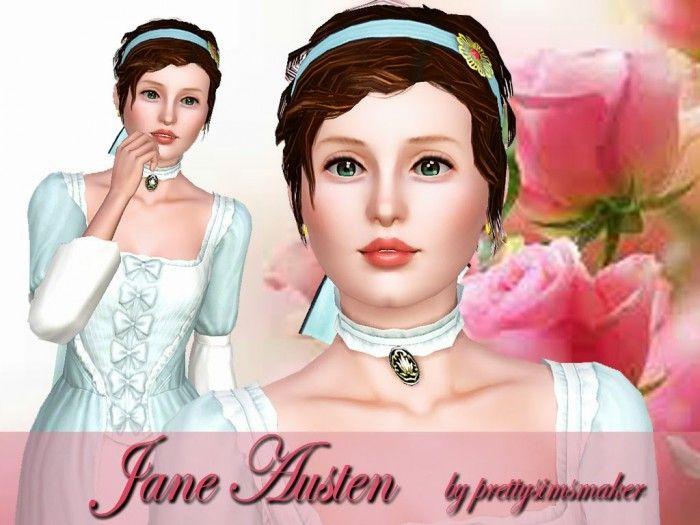 Jane Austen sims model by prettysimsmaker - Sims 3 Downloads