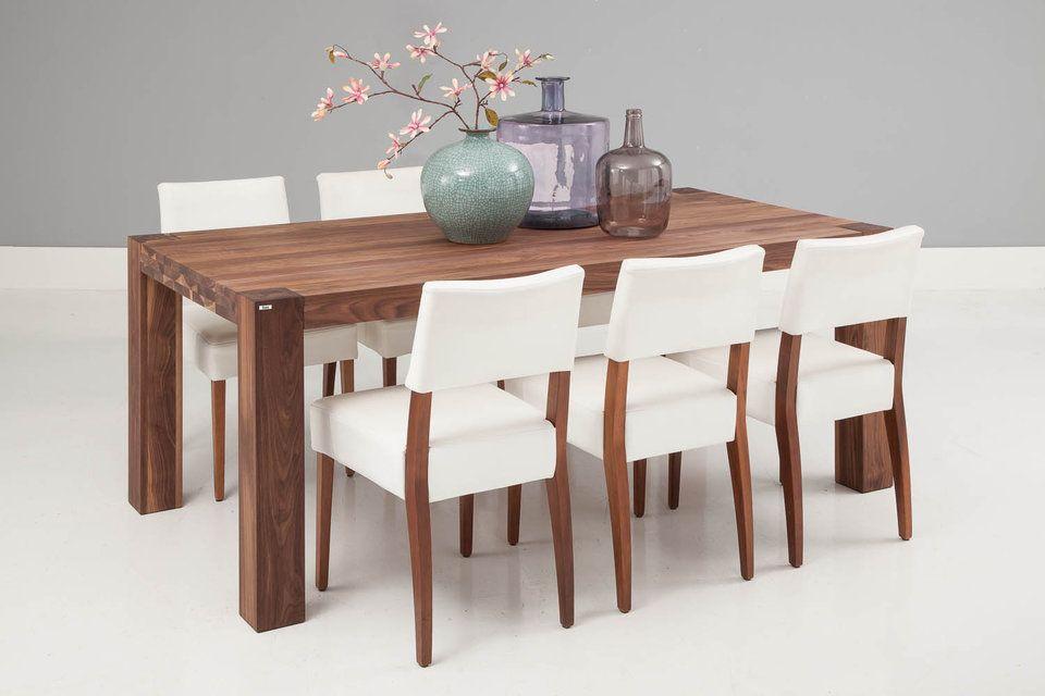 Eetkamer eetkamerstoelen notenhout beelden : Eetkamertafel Timber past door zijn fraaie vormgeving en afmeting ...