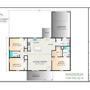 Magnolia House Plan 1456 Square Feet