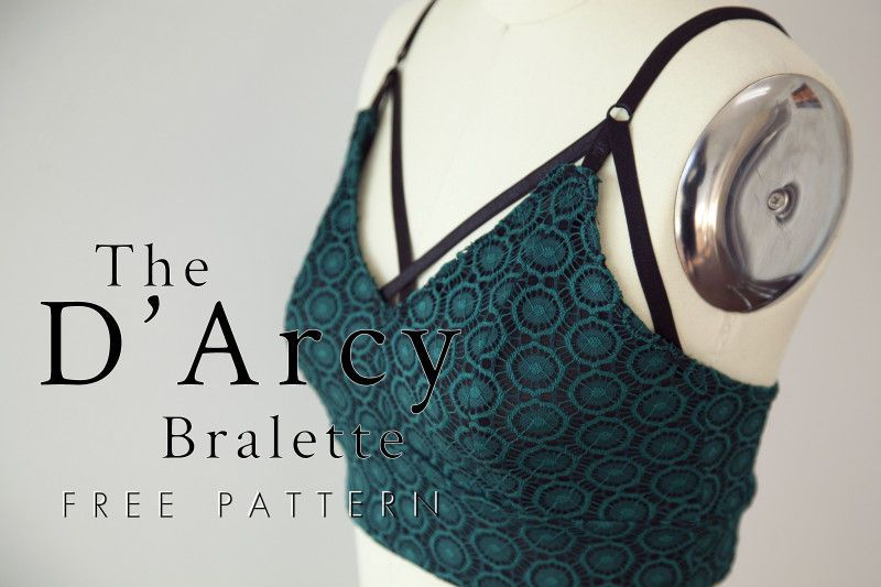 The D'Arcy Bralette - Free Sewing Pattern #sewingtechniques