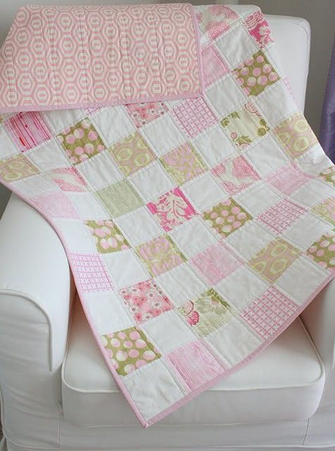 Simple Baby Quilt By Korolewishna Quilt Projects Pinterest