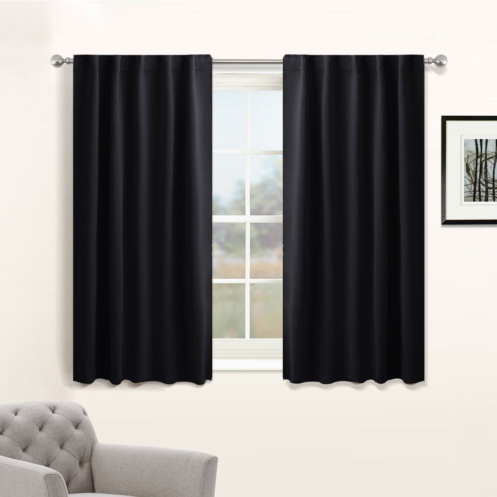 Nursery Blackout Curtain Panels Set Thermal Insulated Window