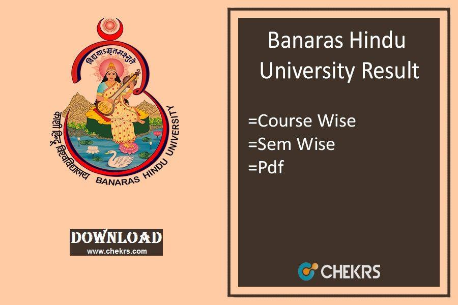 Bhu Exam Result 2018 Exam Results Exam University Result