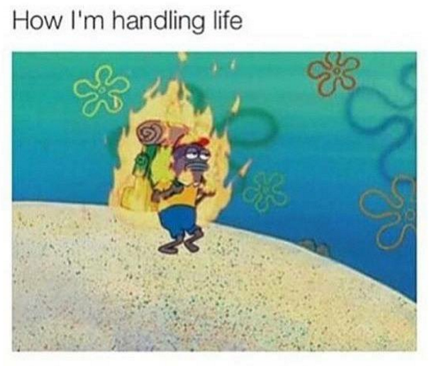 On life in general: | 32 Times SpongeBob Perfectly Summed Up Your Life