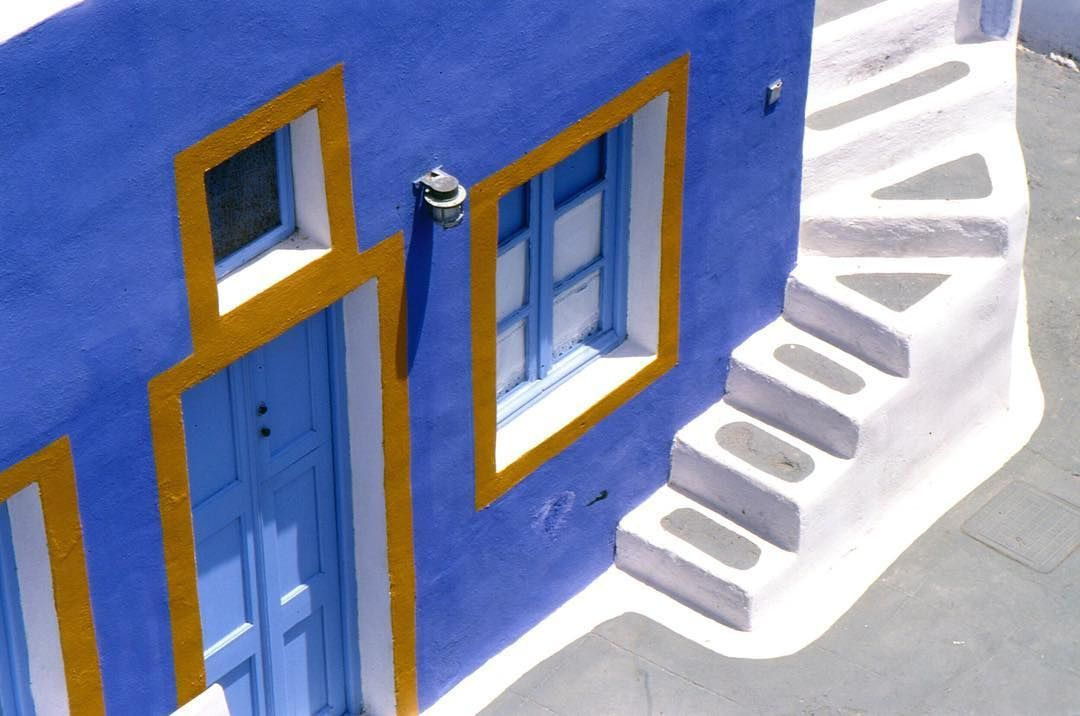 Love the colours of the med. Especially the blue and white houses of #santorini. #greece #europe #goexplore #lonelyplanet #oldschool #film