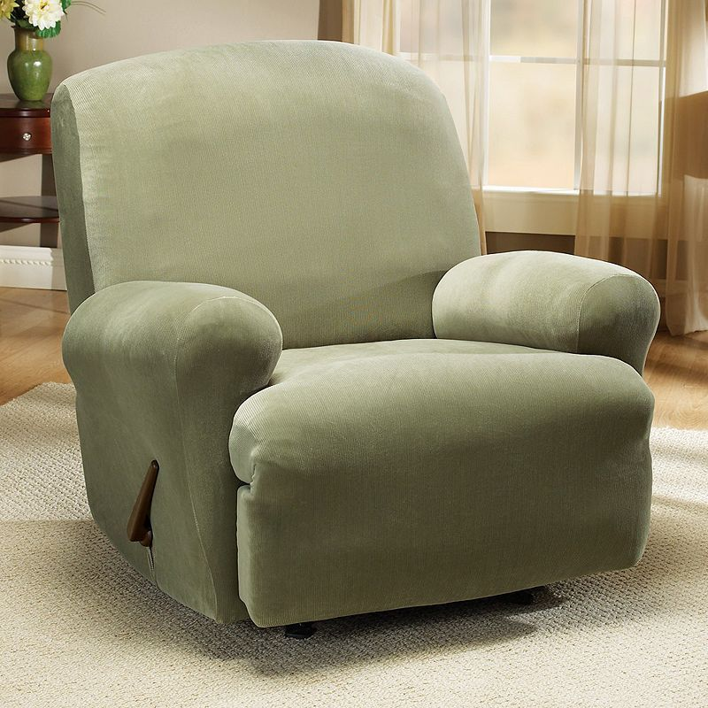 shipping sure garden home slipcover today fit recliner suede overstock slipcovers free stretch product