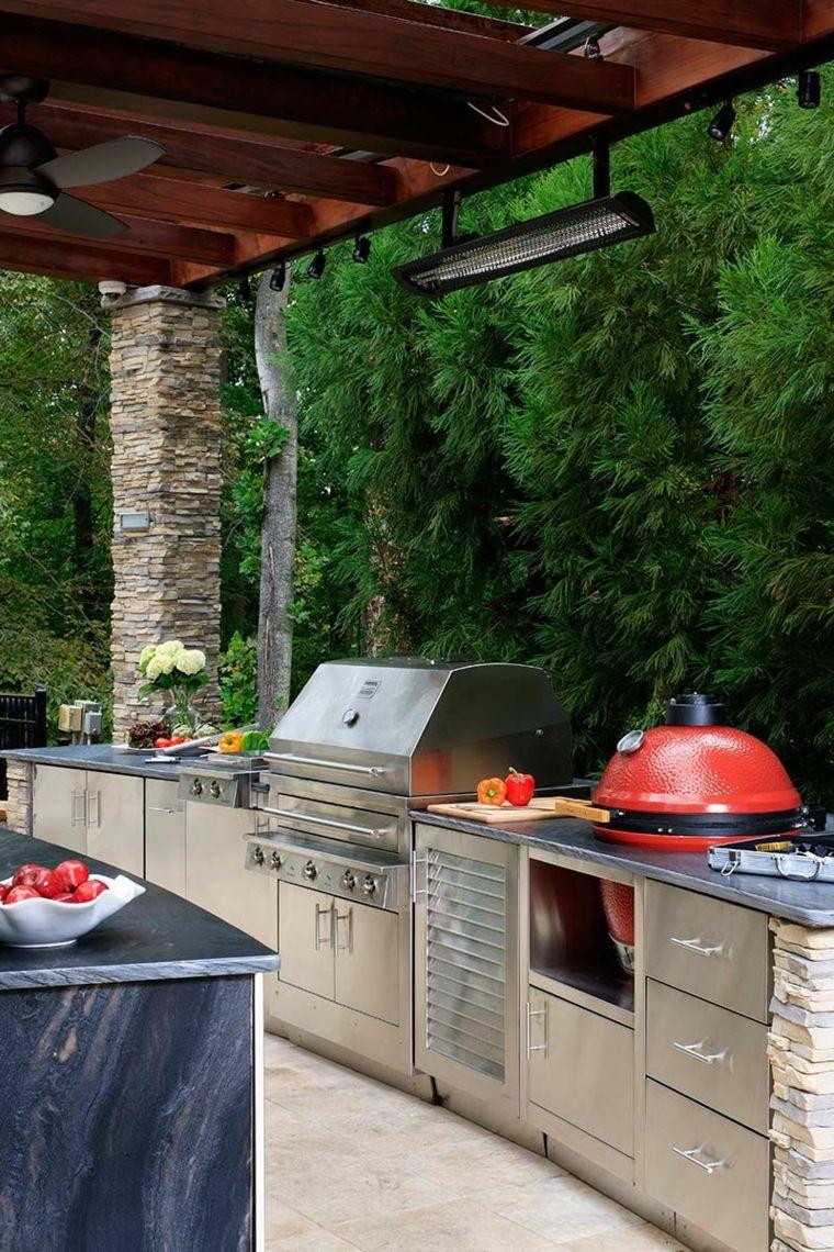 Dise o de cocinas modernas al aire libre perfectas para tu for Jardin al aire libre de madera deco