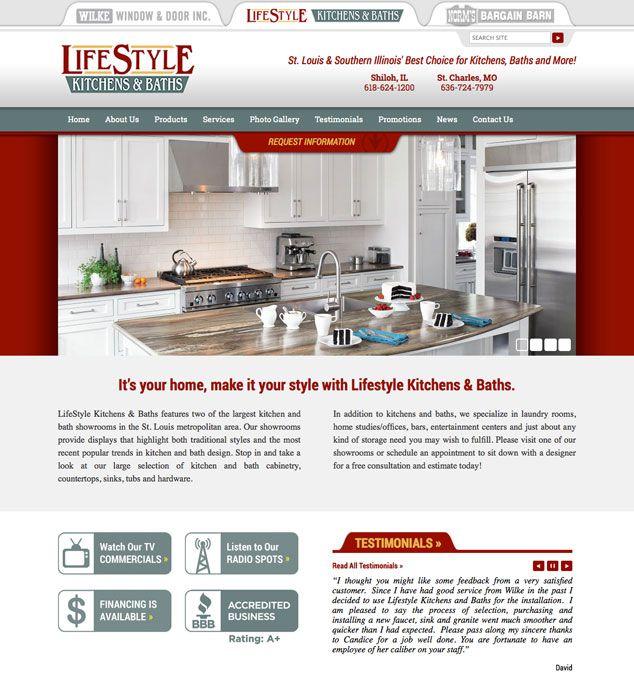 Wordpress Web Design For St Louis Kitchens Bath Company Wordpress Web Design Website Redesign Design