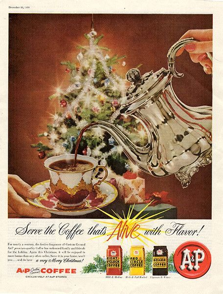 1958 A and P A&P Coffee Original Food and Drink Print Ad