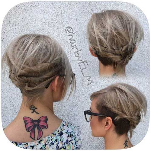 Trending Long Bob Updo Ideas Hairstyles 2017 Short For Women
