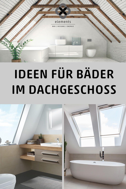 Dein Badezimmer befindet sich unterm Dach? Herzlichen