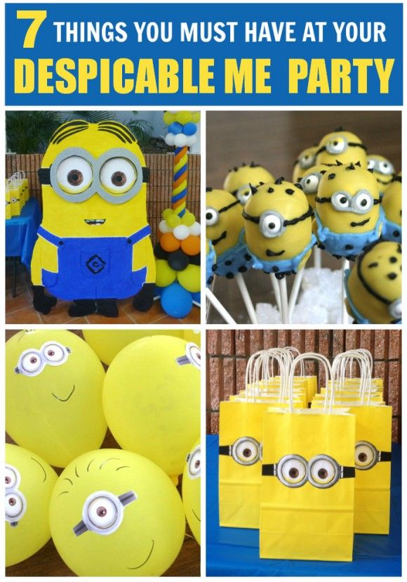 21d8f1f71 7 must-have party ideas for your Despicable Me birthday party! See more  party ideas at CatchMyParty.com. #despicableme #partyideas