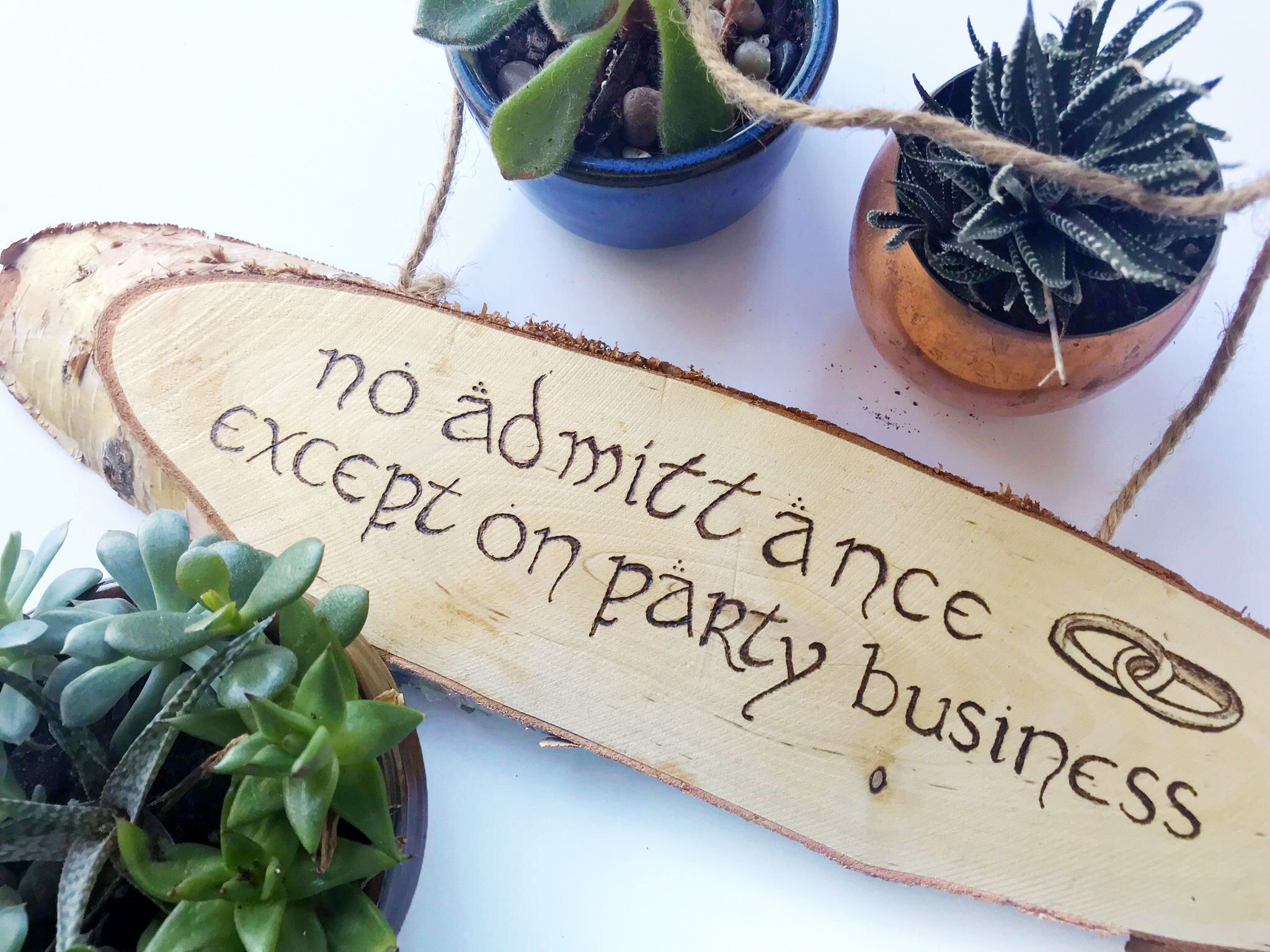 Lord of the Rings Rustic Sign - No Admittance Except on Party ...