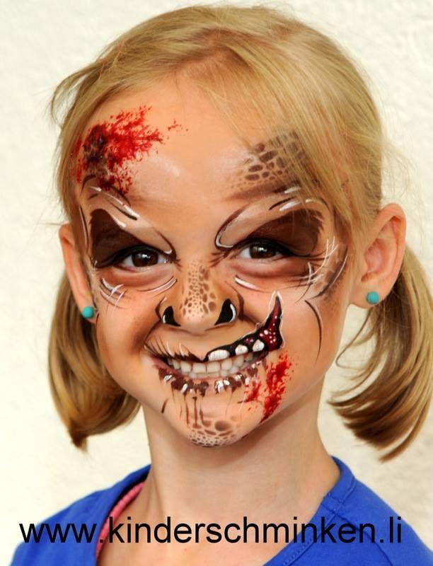 zombie girl for halloween design by svetlana keller kinderschminken - Zombie Halloween Faces
